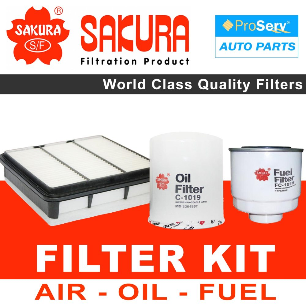 medium resolution of oil air fuel filter service kit for mitsubishi triton ml 2 5l diesel 2008 2017