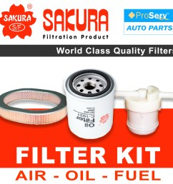 oil air fuel filter service kit for honda civic ef 1 3l 1987 1991  [ 1600 x 1600 Pixel ]