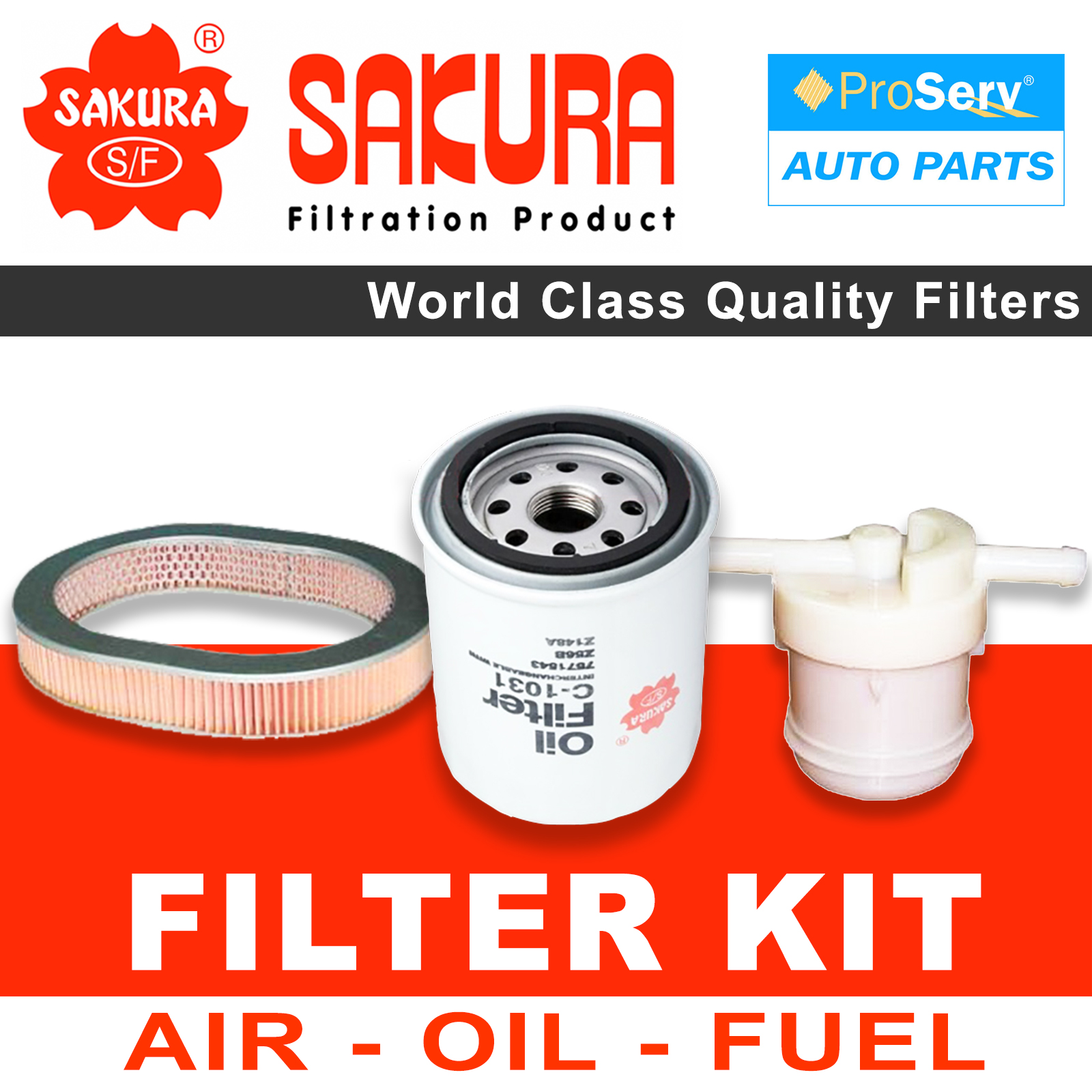 hight resolution of oil air fuel filter service kit for honda civic ef 1 3l 1987 1991 sakura filters