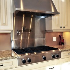 Kitchen Exhaust Cabinet Fronts Fan In Pro Service Mechanical Image Of A Home Built Stainless Steel Range Top And