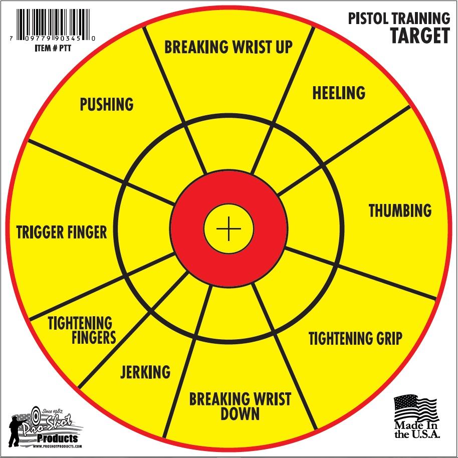 pistol training target 6pk