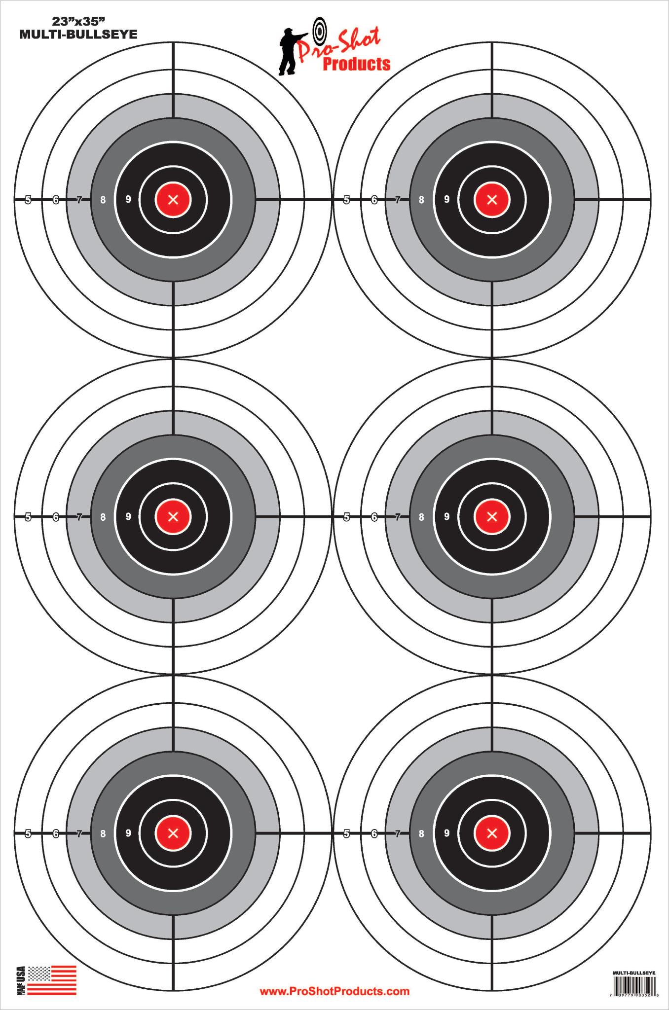 6 bullseye heavy paper