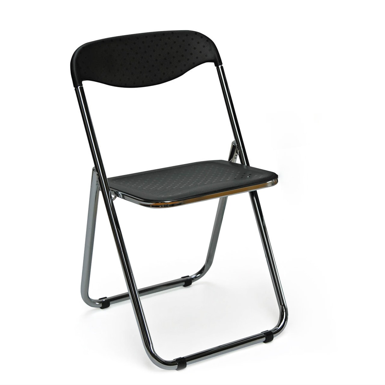 chaise pliante en pvc et chrome spot pas cher