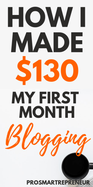WordPress blog made $130 in the first month of blogging
