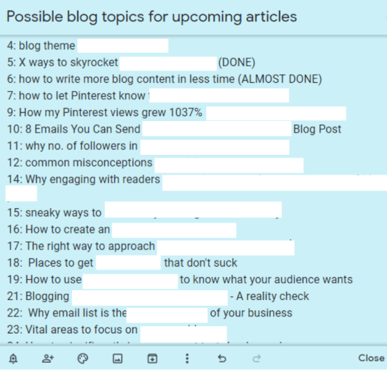 How To Write a Blog Post In Under Thirty Minutes (My Hit list)
