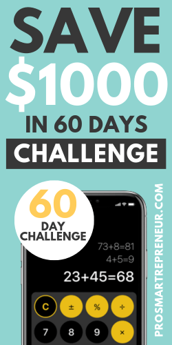 How To Save $1000 In 60 days: A 60-day Money Challenge
