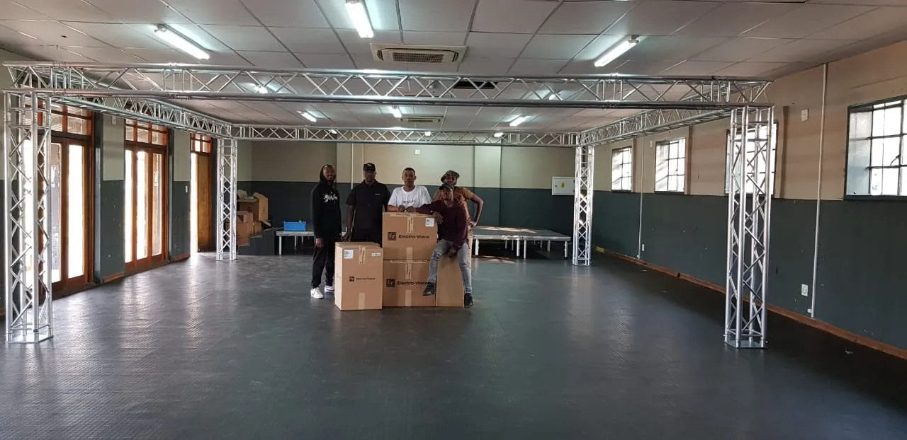 TX Theatre Productions install Electro-Voice and Eurotruss at Moses Molelekwa Art Centre