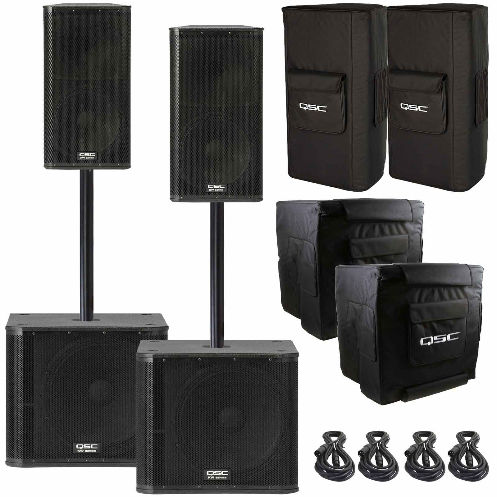 2 Qsc Kw152 Way Multipurpose Active Speakers With 15 Woofers And Daisy Chain Wiring Diagram