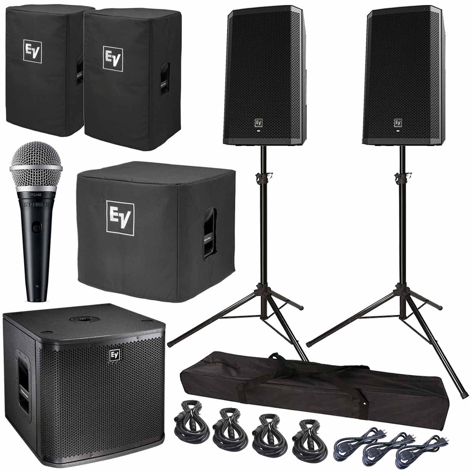 Electro Voice Zlx 12p 12 Powered Speaker Subwoofer Package Speech Amplifier Box