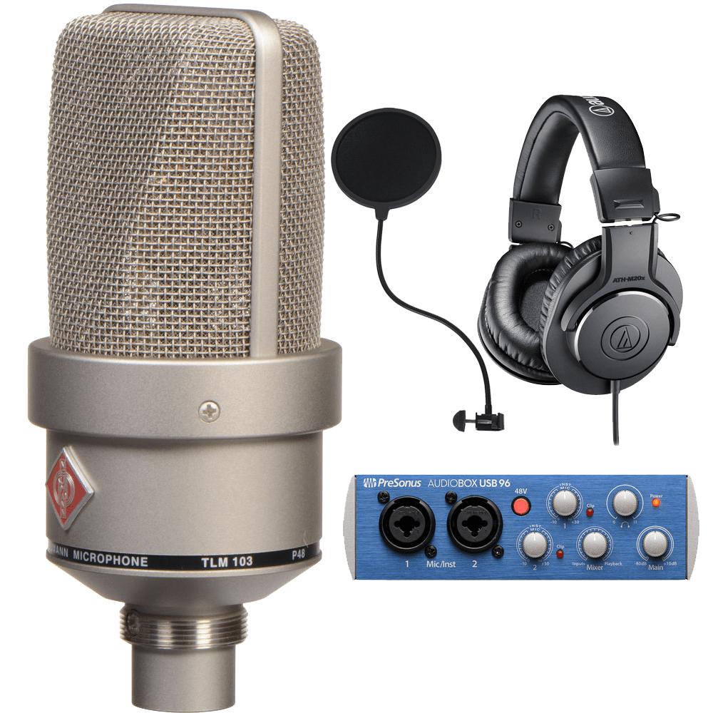 Neumann Tlm 103 Large Diaphragm Condenser Microphone Nickel Audio Technica Ath M20x Black Untitled 1