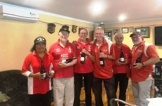 Prospectors Team: Selina, Dave, Tory, Alan, Lionel and Mike runners-up for the Spring Cup 2017