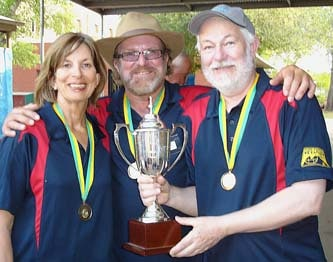 April 2007, Valmai, Mike and Dave (Easter Over 60s Winners)