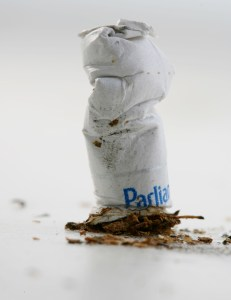 Antonio Perez/Chicago Tribune/MCT Cigarettes rank at the top of litter problems, for their ubiquity, toxicity and durability. Parkland College, in compliance with Illinois' smoking ban on all state-supported schools, will switch to a smoke-free campus on July 1, 2015.