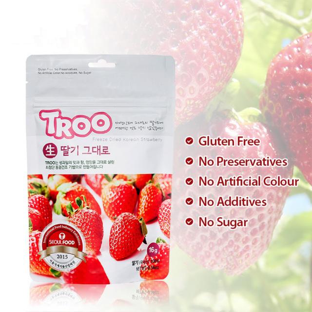 韓國天然冷凍乾果 (士多啤梨) Korean Natural Freeze-dried Fruit (Strawberry)