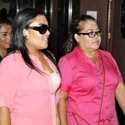 Monica Salazar-Orozco and her mother Elizabeth Hinojosa, both of Oklahoma City, walking to the courtroom to plead guilty at the Oklahoma County Courthouse in Oklahoma City Wednesday, July 24, 2013. Hinojosa, a dental assistant and her daughter, a dental receptionist, both plead guilty to practicing dentistry without a license. Photo by Paul B. Southerland, The Oklahoman