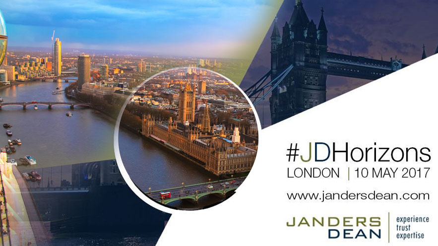 Janders Dean Horizons Conference on MAY 10, 2017 in London