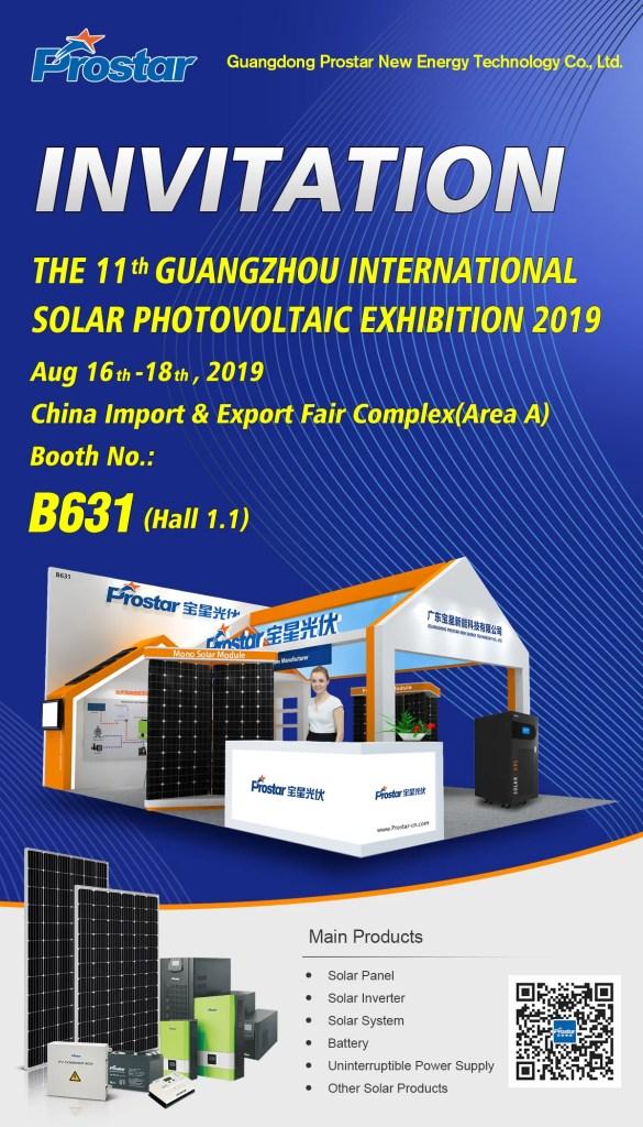 Prostar Solar 2019 Guangzhou International Solar Photovoltaic Exhibition