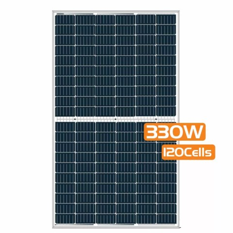 Half-cut Cell Mono PERC Solar Panel 330W 120Cells