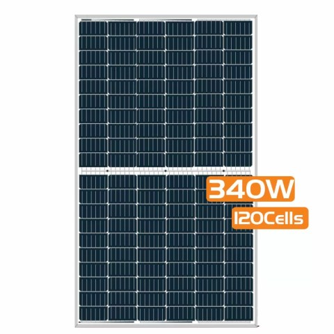 Half-cut Cell Mono PERC Solar Panel 340W 120Cells