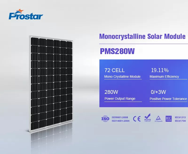 free electricity photovoltaic power 280w solar panel