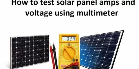 how to calculate solar panel amps
