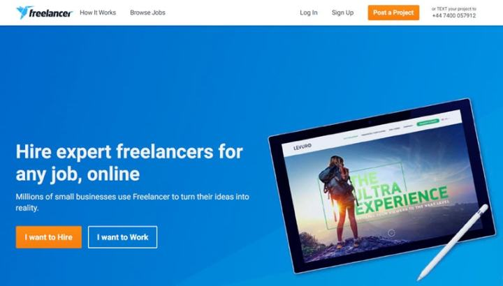 Hire a writer at Freelancer