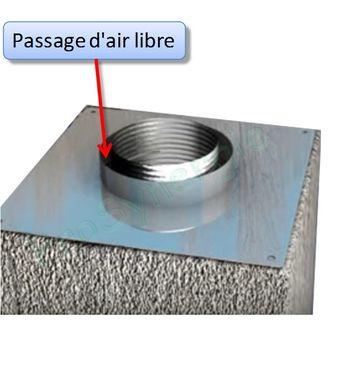 plaque d etancheite haut de cheminee inox carree 350x350 ou rectangulaire 300 x 500 mm