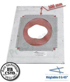 plaque de finition inox plafond 0 a 45