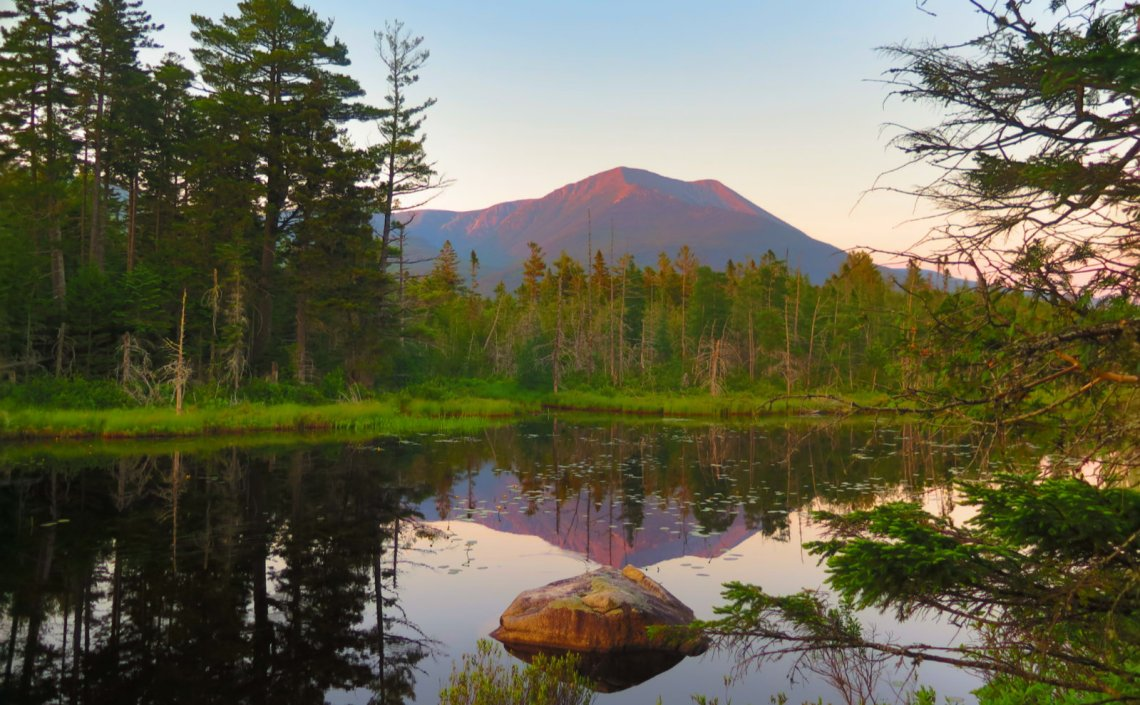 Mount Katahdin from Grassy Pond.