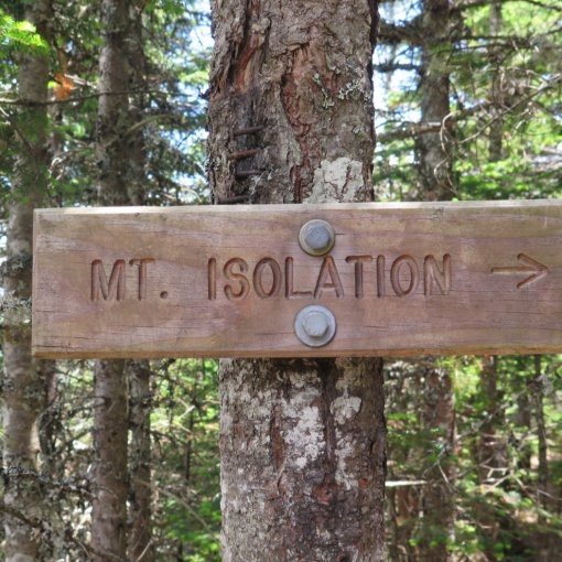 Trail sign for Mt Isolation