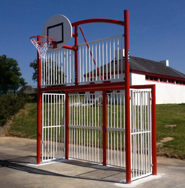 terrain, multisports, basket, football, city stade, urbain, mini pitc
