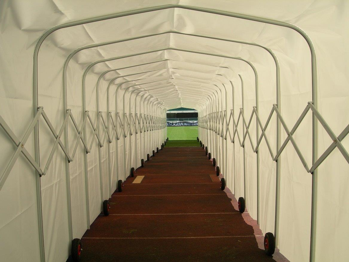 tunnel, accès, stade, football, joueurs