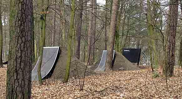 tremplin bikepark bois
