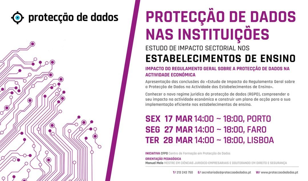I Curso de Formação - Estudo de Impacto Sectorial - «Protecção de Dados Pessoais nos Estabelecimentos de Ensino»