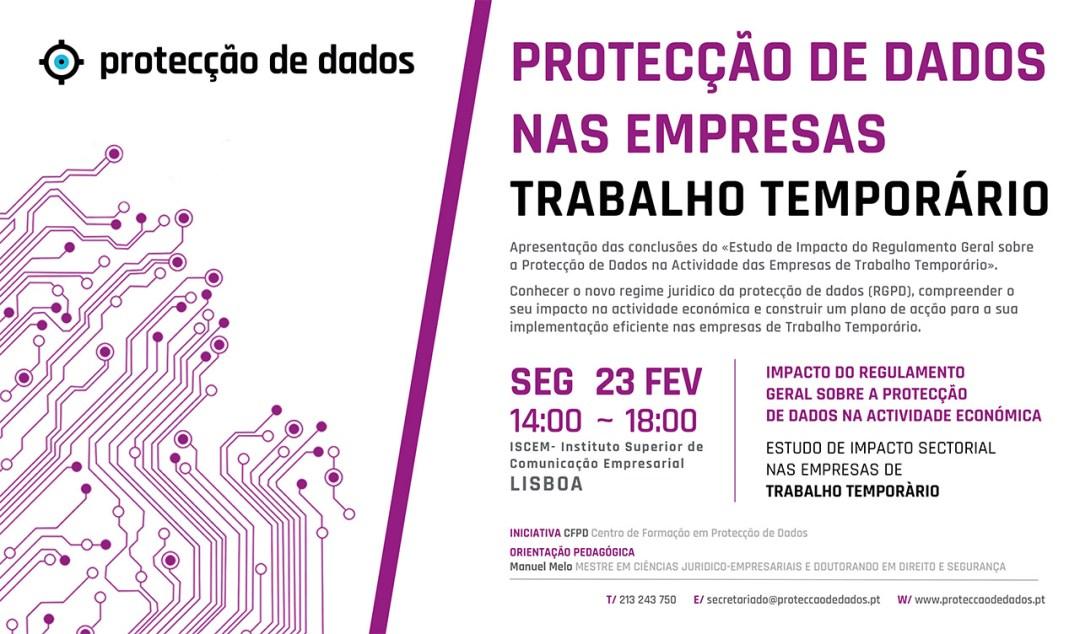 I Curso de Formação - Estudo de Impacto Sectorial - «Protecção de Dados Pessoais nas Empresas de Trabalho Temporário»