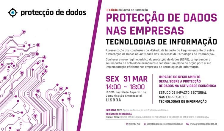 I Curso - Impacto do RGPD nas TIC's - Protecção de Dados nas Empresas de Tecnologias de Informação e Comunicação