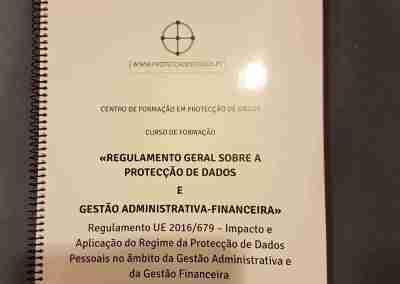 Manual do Curso «Impacto da Protecção de Dados na Gestão Administrativa e Financeira»