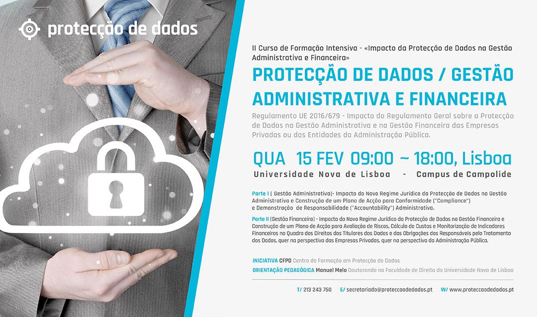 II Curso de Formação - «Impacto da Protecção de Dados na Gestão Administrativa e Financeira»
