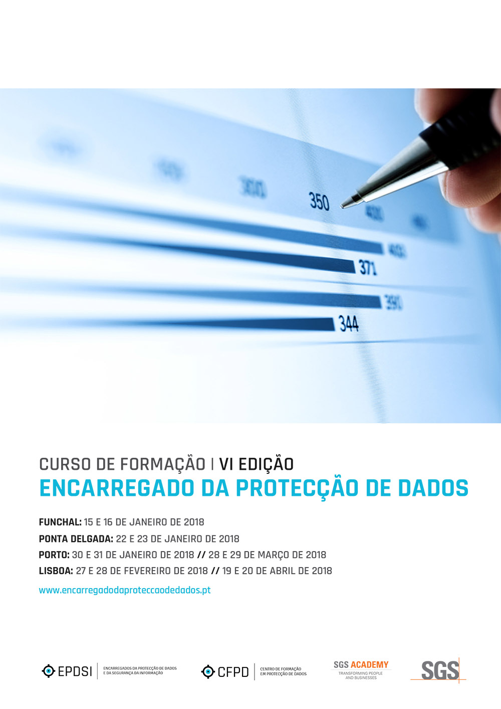 Calendário de Cursos - «Encarregado da Protecção de Dados» | «Data Protection Officer» - VI Edição - Funchal, Ponta Delgada, Porto e Lisboa