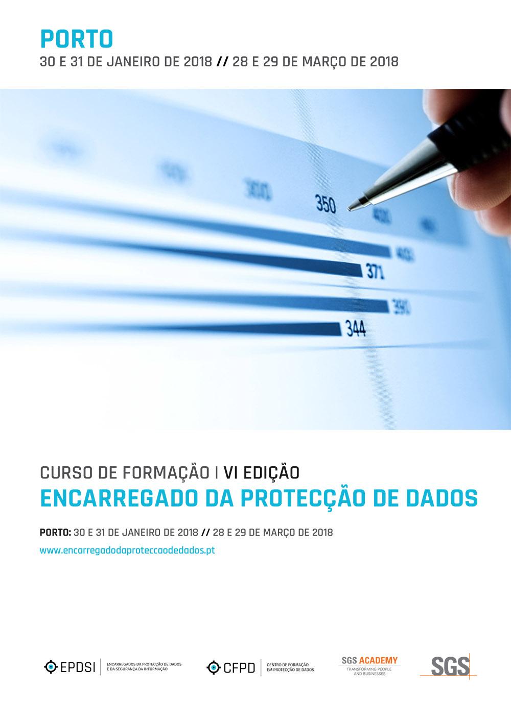 Curso de Formação - Encarregado da Protecção de Dados - VI Edição - Porto - Agenda Geral