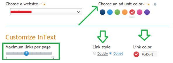 Infolinks Customization