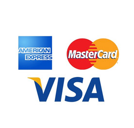 VISA, American Express and MasterCard