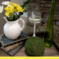 Spring Tray Vignette Flowers Bird and Moss