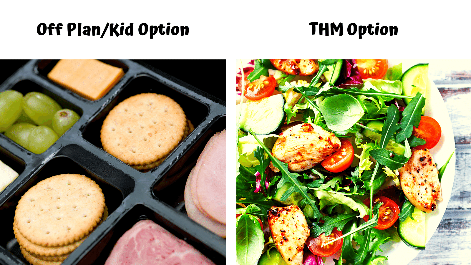 Salad Bar 2 ways - THM On Plan & Family option