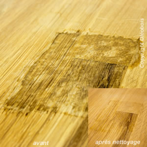 Tache de remontée de tanins sur bois