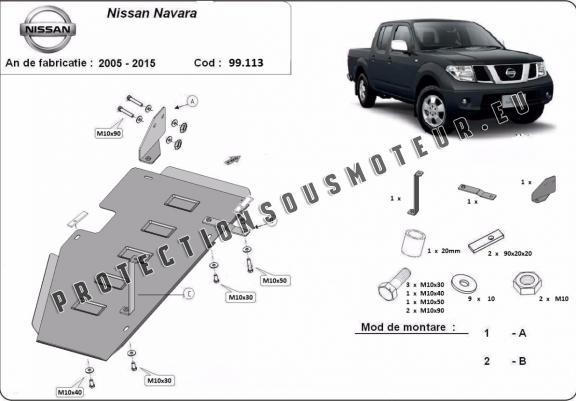Protection de réservoir Nissan Navara D40