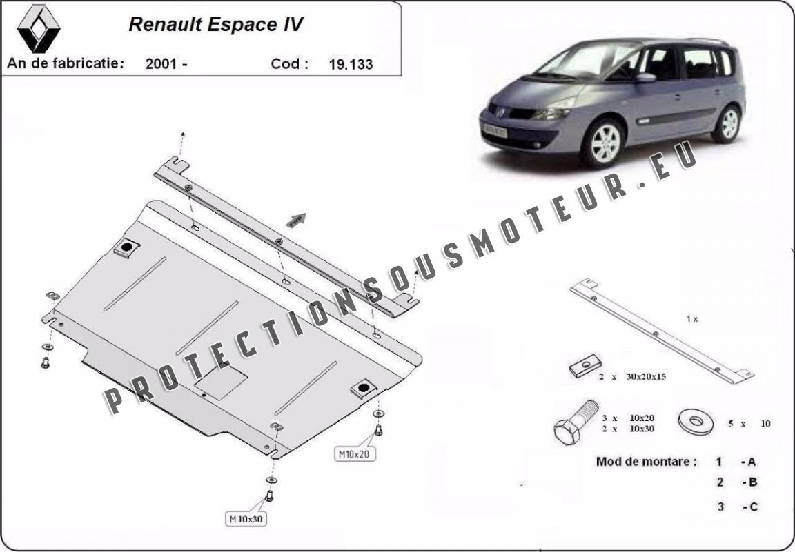 Protection Sous Moteur Et De La Boite De Vitesse Renault