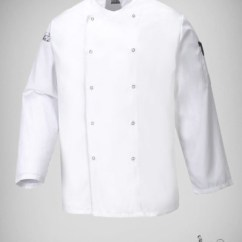 Kitchen Wear Cabinets Refacing Cost Product Tags Michael Ryder Protective Clothing Chef Attire White Jacket Stud Fastening