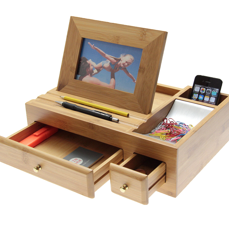 Lovely Large Desktop Organiser by Woodquail  Eco Gifts