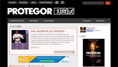Nouvelle interface pour le site protegor.net